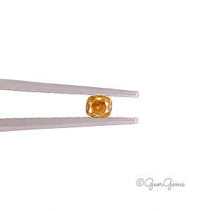 Natural Cushion Shape Fancy Yellow Orange Coloured Diamonds for Sale South Africa
