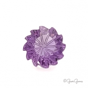 Natural Round with Carved Edges Amethyst Gemstones for Sale South Africa