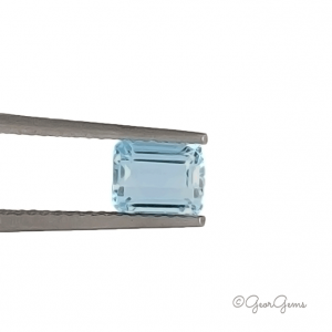Natural Blue Rectangular Step Cut Aquamarine for Sale South Africa