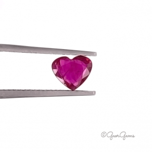 Natural Heart Shape Ruby Gemstones for Sale South Africa