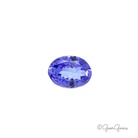 oval shape tanzanite gemstone