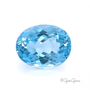 Natural Oval Shape Swiss Blue Topaz Gemstones for Sale South Africa