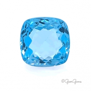 Natural Cushion Shape Swiss Blue Topaz Gemstones for Sale South Africa