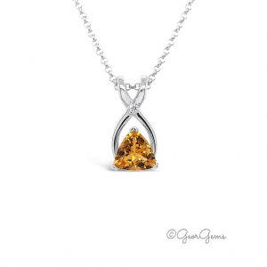 Sterling Silver Citrine Pendant & Chain for Sale South Africa